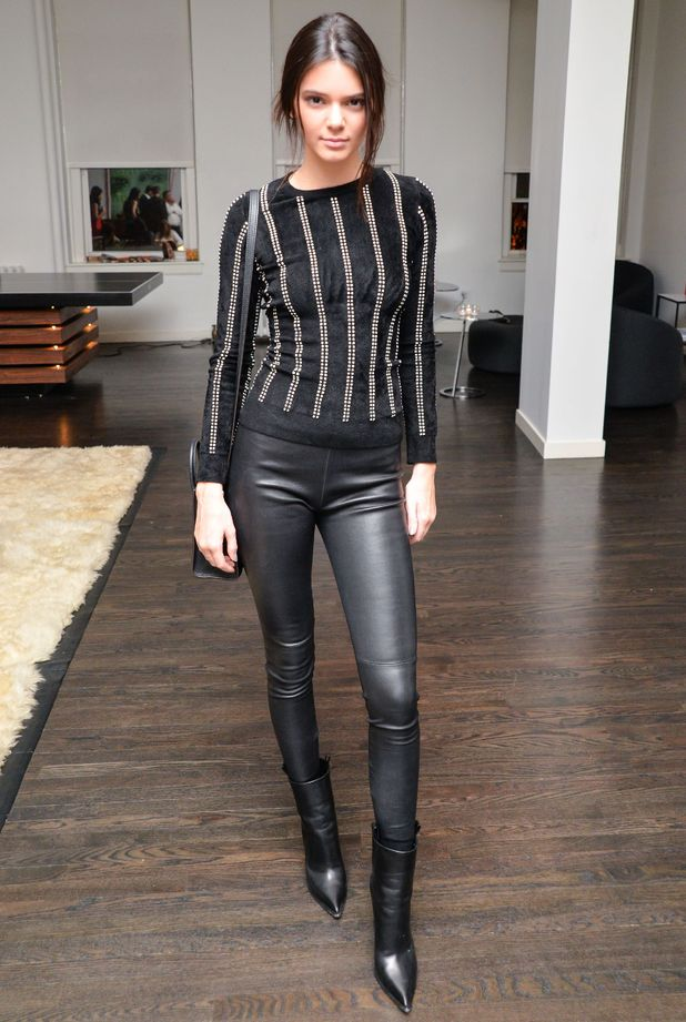 Fall Trend Luxe Leather Looks Worn by Kendall Jenner u2013 The Luxe Lookbook