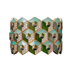 Cartier Royal Collection - Gold, Jade, Chrysoprases, Onyx and Diamond Bracelet - courtesy of cartier.us