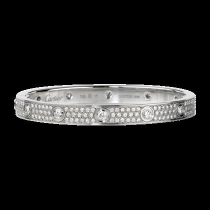 Love White Gold and Diamond Bracelet - courtesy of cartier.us
