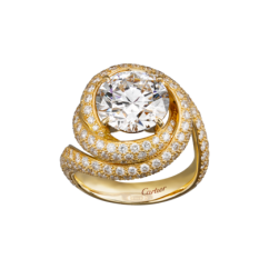Yellow Gold and Diamond Solitaire - courtesy of cartier.us