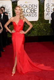 Heidi Klum in Versace with Lorraine Schwartz jewels and Jimmy Choo shoes