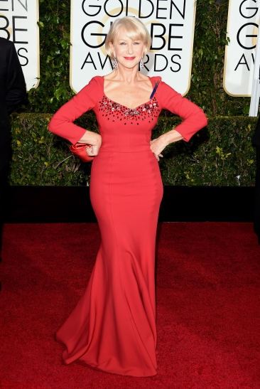 Helen Mirren in Dolce and Gabbana with Chopard jewels