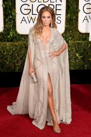 Jennifer Lopez in Zuhair Murad wih Lorraine Schwartz jewels and Jimmy Choo clutch