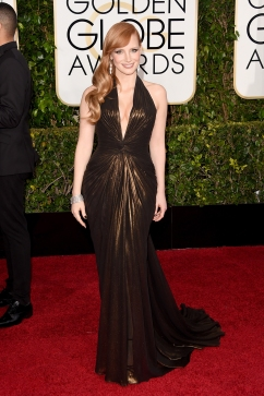 Jessica Chastain in Versace with Piaget jewels