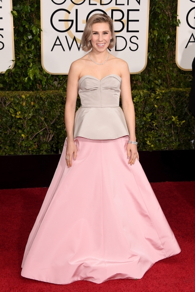 Zosia Marnet in Andrew Gn with Harry Winston jewels