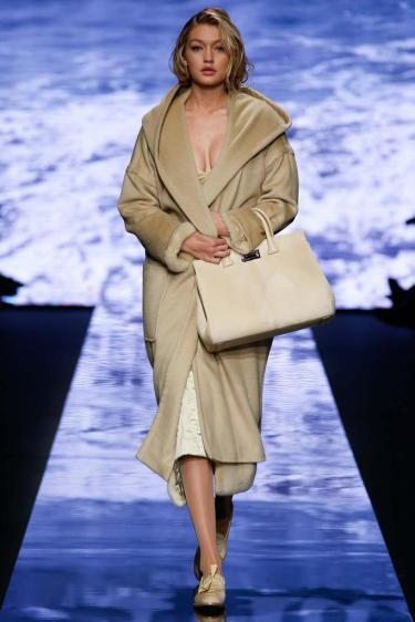 Gigi Hadid in Max Mara - Courtesy of style.com