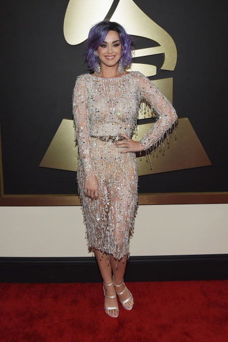 Katy Perry in Zuhair Murad with Lorraine Schwartz and Harry Kotlar jewels and Sophia Webster shoes - Courtesy of style.com