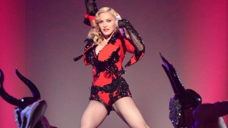 Madonna performing at 2015 Grammys - Courtesy of zap2it.com