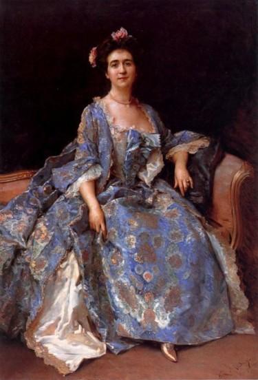 Portrait of Mrs by Raimundo de Madrazo y Garreta - Courtesy of allpaintings.org