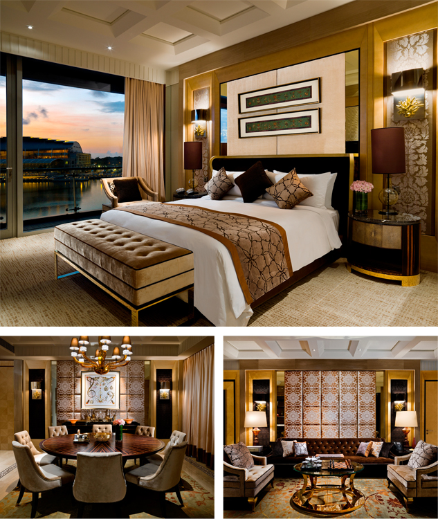 Presidential Suite - Courtesy of fullertonbayhotel.com