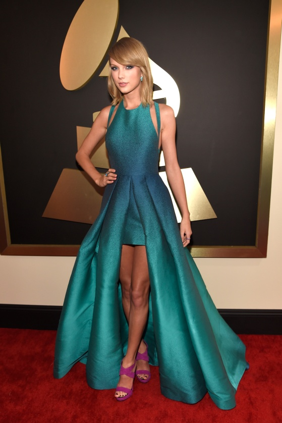 Taylor Swift in custom Elie Saab with Lorraine Schwartz jewels - Courtesy of style.com - Copy