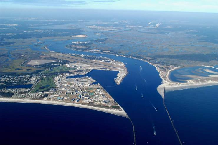 St. John's River meets the Atlantic Ocean - Courtesy of University of North Florida
