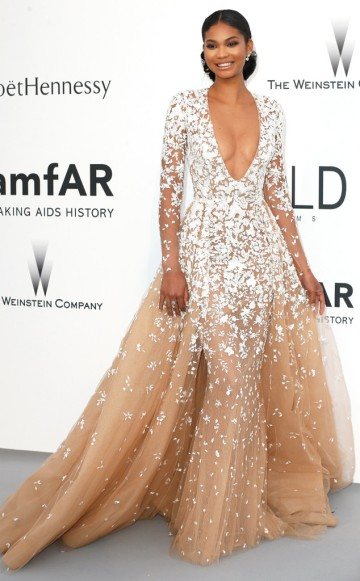 Chanel Iman in Zuhair Murad - Courtesy of eonline.com