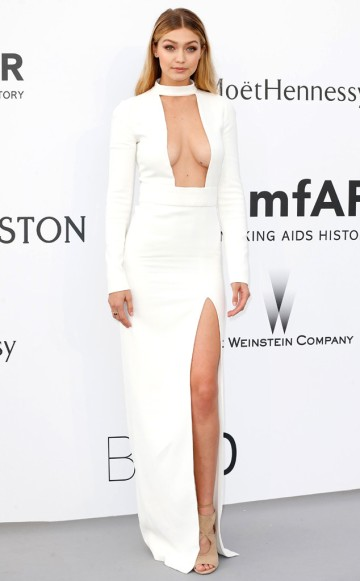 Gigi Hadid in Tom Ford - Courtesy of eonline.com