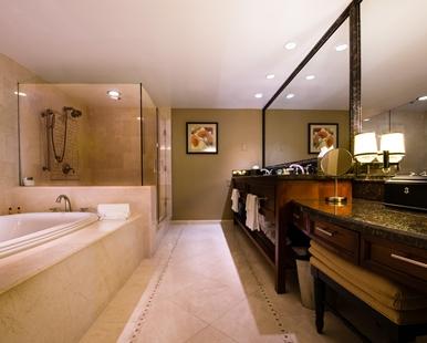 Champion Suite Bathroom - Courtesy of hilton.com