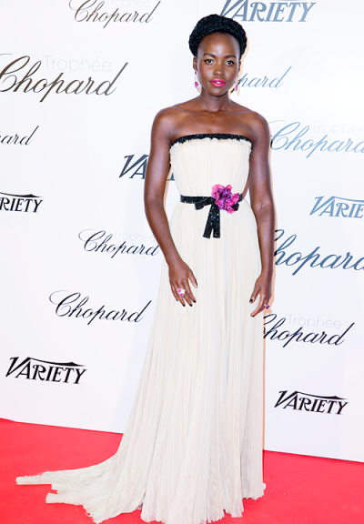 Lupita Nyong'o in Gucci - Courtesy of fashionsizzle.com