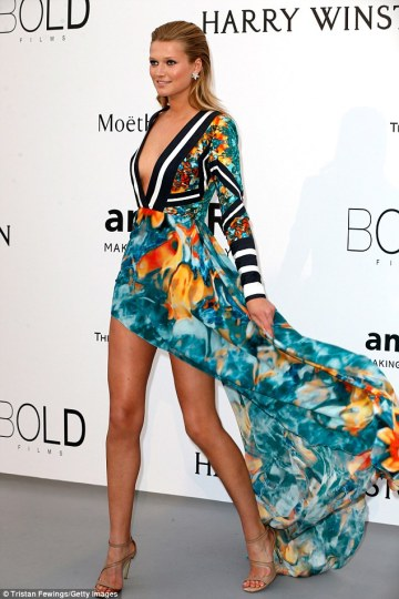 Toni Garrn in Elie Saab - Courtesy of dailymail.co.uk
