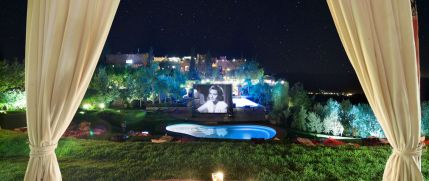Kasbah Tamadot Outdoor Cinema Night - Courtesy of Kasbah Tamadot