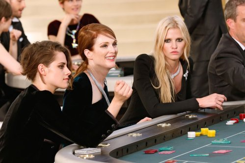 Kristen Stewart - Julianne Moore - Lara Stone at Roulette Table - Photo by Bertrand Rindoff Petroff-Getty Images