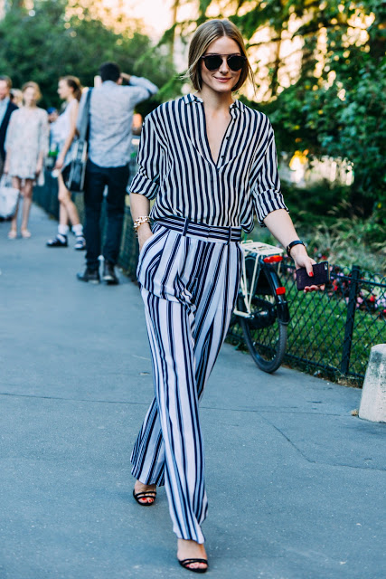 olivia palermo in stripes