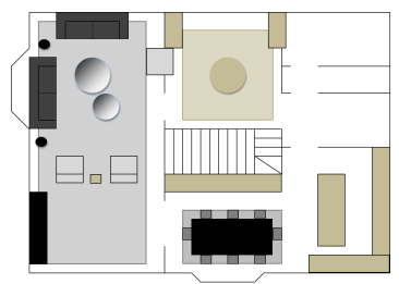 Floor Plan - Courtesy of SwanfieldLiving
