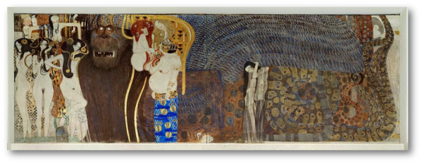 Gustav Klimt's Beethoven Frieze - The Hostile Powers, 1901 - Courtesy of studyblue.com