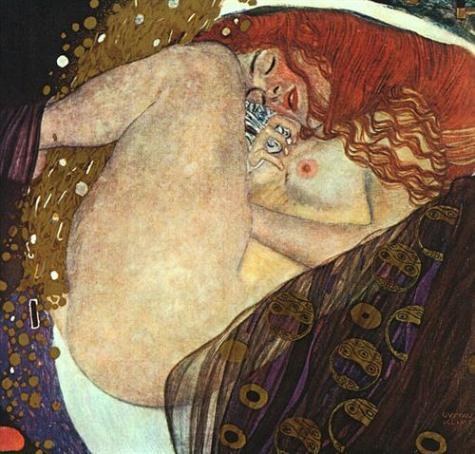 Gustav Klimt's Danae, 1907 - Courtesy of wikiart.org