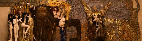 Inge Prader's recreation of Gustav Klimt's Beethoven Frieze - The Hostile Powers, 1901