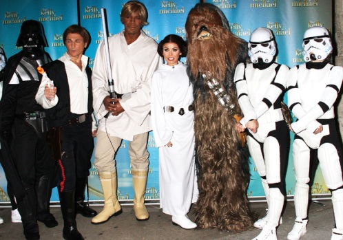 Kelly and Michael Show as Luke Skywalker, Princess Leia and Star Wars gang - Courtesy of Getty Images