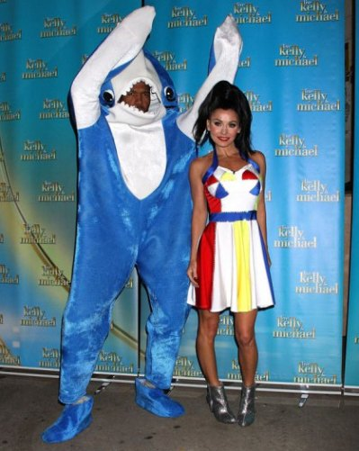 Kelly Ripa and Michael Strahan as Katy Perry and the Left Shark - Courtesy of Getty Images