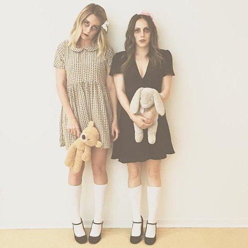 Lauren Conrad and Friend as Zombie Children - Photo laurenconrad - Instagram