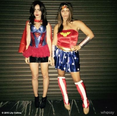 Lily Collins as Superwoman - Photo lilyjcollins - Instagram