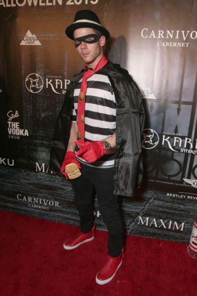 Nick Jonas as the Hamburgler - Courtesy of Getty Images