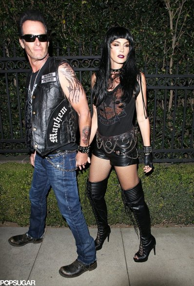 Rande Gerber and Cindy Crawford as Bikers - Courtesy of X17 Online