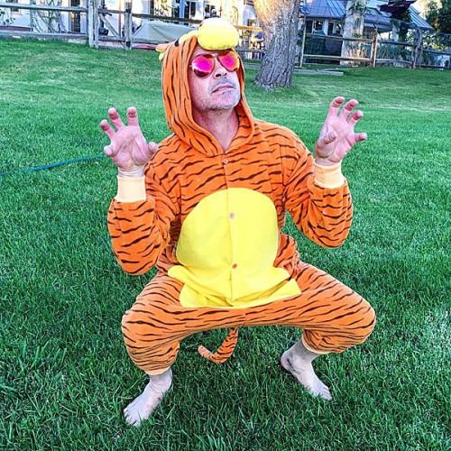 Robert Downey Jr as a tiger - Photo robertdowneyjr - Instagram