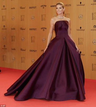 Heidi Klum in Zac Posen - Getty Images