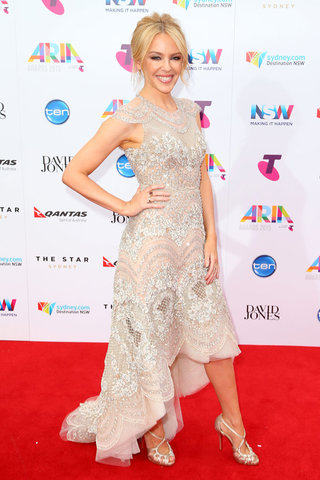 Kylie Minogue in J'Aton Couture - Getty Images