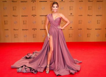 Sylvie Meis in Lever Couture - Getty Images