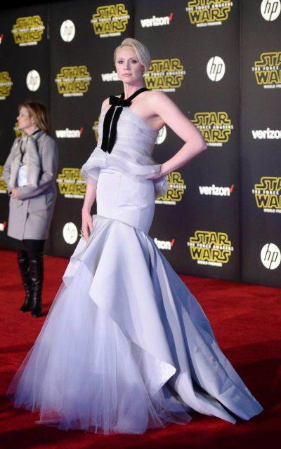 Gwendoline Christie in Oscar de la Renta - REUTERS