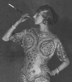 Peggy Guggenheim in a Paul Poiret dress, photographed by Man Ray, 1923
