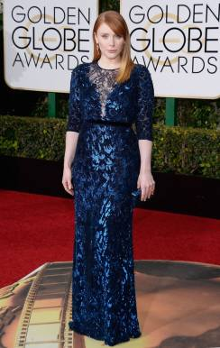 Bryce Dallas Howard in Jenny Packham - Photo Kevork Djansezian - NBC - Getty