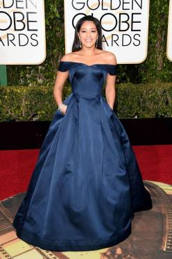 Gina Rodriguez in Zac Posen - Photo Jason Merritt - Getty