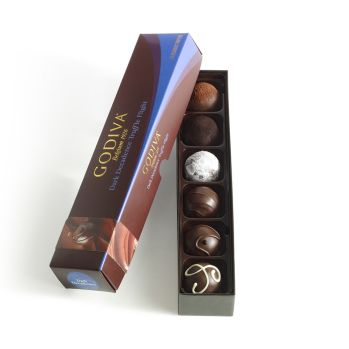 Godiva Dark Decadence Truffle Flight