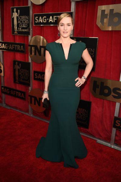 Kate Winslet in custom Giorgio Armani - Getty