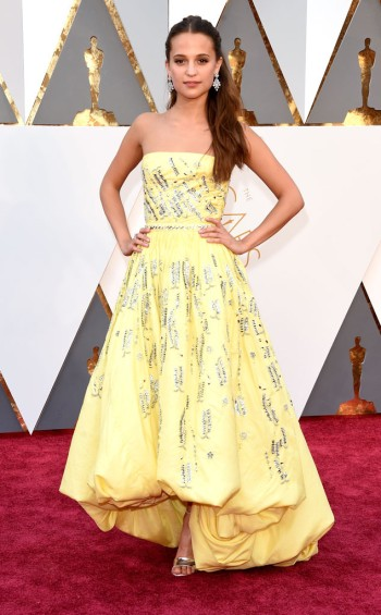 Alicia Vikander in custom Louis Vuitton - Jason Merritt - Getty