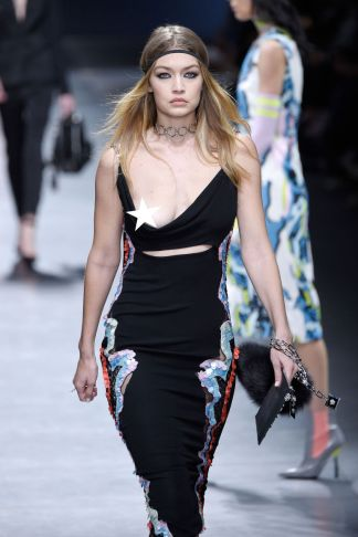 Gigi Hadid in Versace - Getty