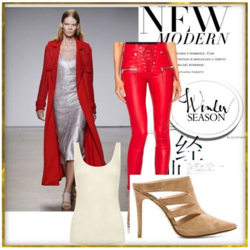 Gigi Hadid red luxe look