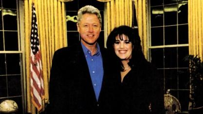 Monica Lewinski and Bill Clinton