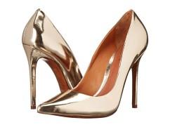America Ferrera - Similar gold metallic pumps by Schutz - The Luxe Lookbook