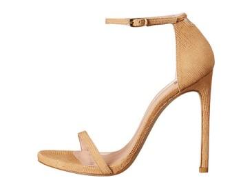Emily Ratajkowski nude heel sandals - The Luxe Lookbook